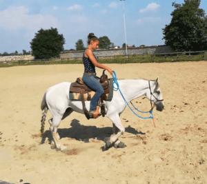 Foto 8 - Montare in capezza è possibile quando il cavallo conosce alla perfezione le pressioni della capezza. In tal caso può essere un ottimo esercizio per valutare il grado di preparazione del cavallo.